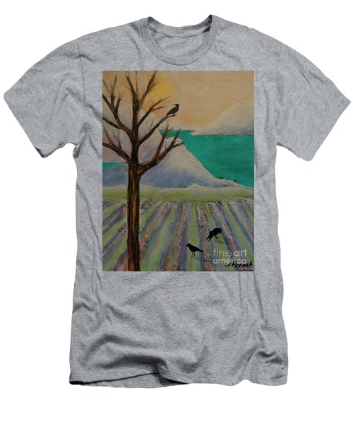 Winter Crows Men's T-Shirt (Slim Fit) by Jeanette French