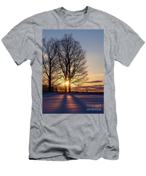 Winter, Crystal Spring Farm, Brunswick, Maine -78592 Men's T-Shirt (Athletic Fit)