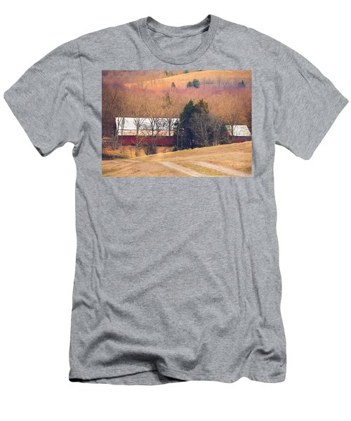 Winter Day On A Tennessee Farm Men's T-Shirt (Athletic Fit)