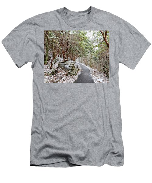 Winter Hiking Trail Men's T-Shirt (Athletic Fit)