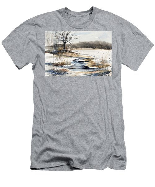 Winter In Caz Men's T-Shirt (Slim Fit) by Judith Levins