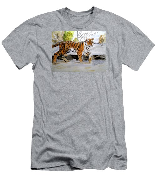 Winter In The Zoo Men's T-Shirt (Slim Fit) by Carol Grimes