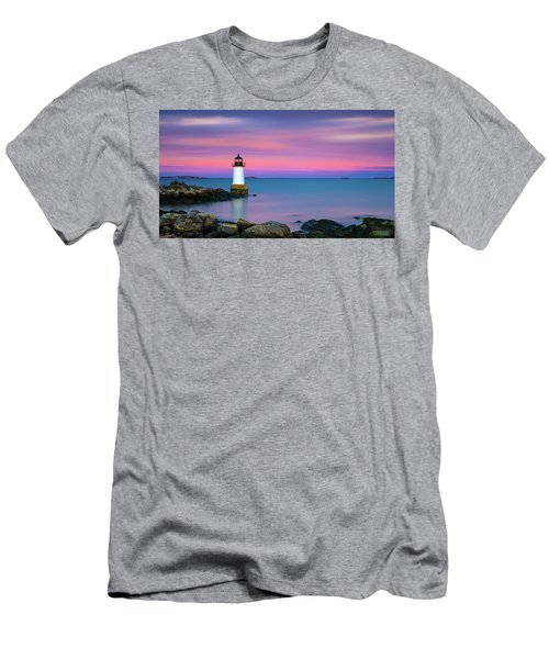 Winter Island Light 1 Men's T-Shirt (Athletic Fit)