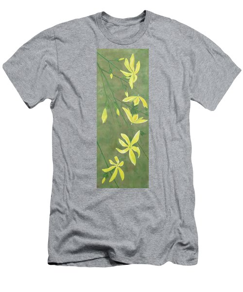 Winter Jasmine Men's T-Shirt (Slim Fit) by Barbara Moignard