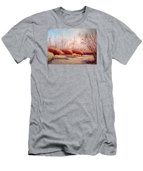 Winter Landscape Dry Creek Bed Men's T-Shirt (Athletic Fit)