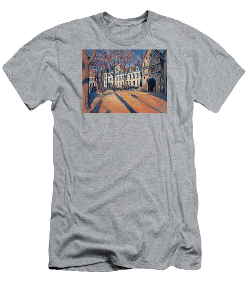 Winter Light At The Our Lady Square In Maastricht Men's T-Shirt (Slim Fit) by Nop Briex