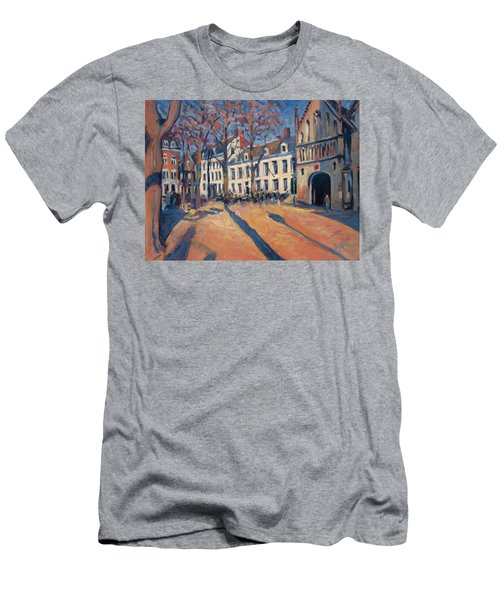 Winter Light At The Our Lady Square In Maastricht Men's T-Shirt (Athletic Fit)