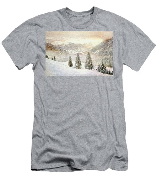 Winter Morning Men's T-Shirt (Slim Fit) by Kai Saarto