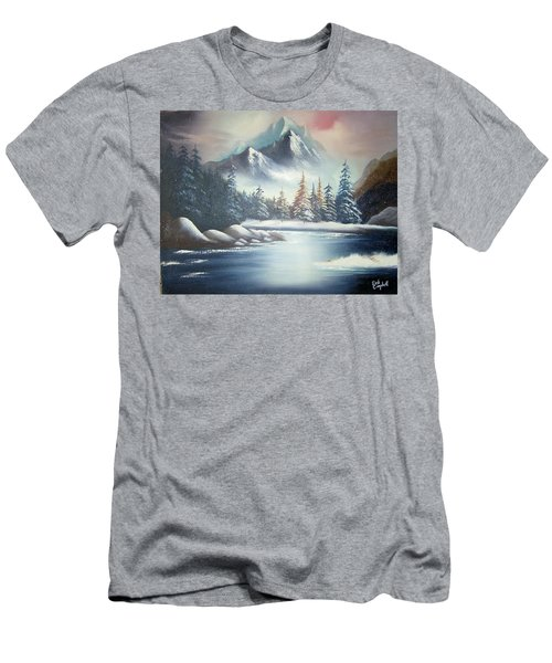 Winter Mountain Men's T-Shirt (Athletic Fit)