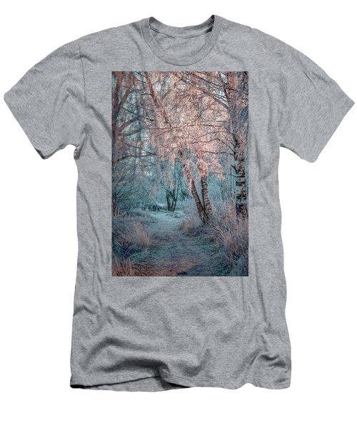Winter Path #h1 Men's T-Shirt (Athletic Fit)