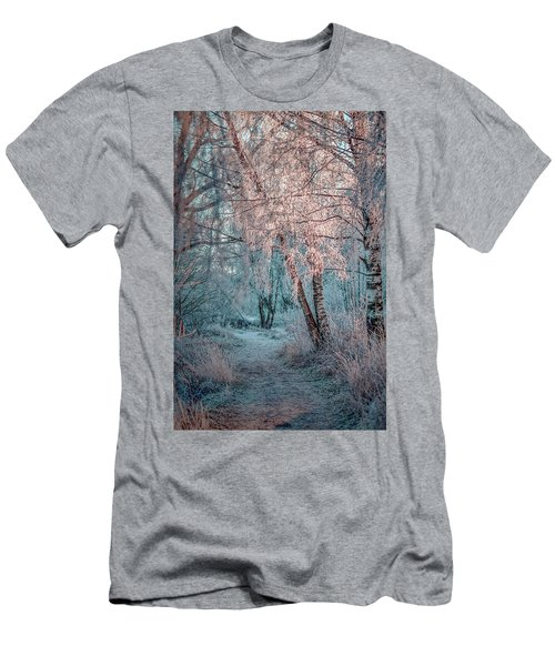 Winter Path #h1 Men's T-Shirt (Athletic Fit)