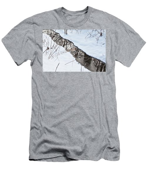 Men's T-Shirt (Athletic Fit) featuring the photograph Winter Reflections 2 by Tatiana Travelways