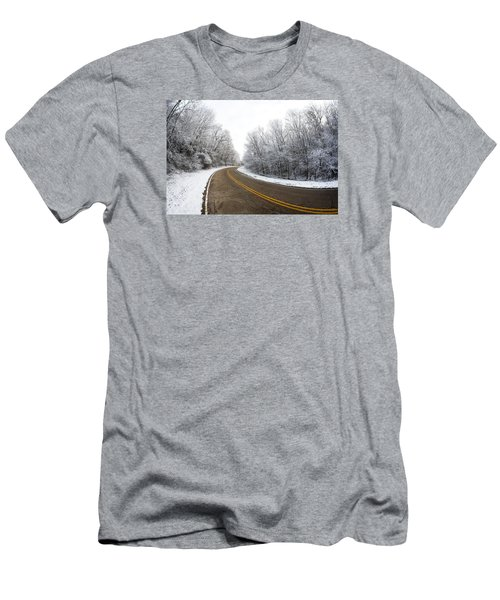 Men's T-Shirt (Athletic Fit) featuring the photograph Winter Road by Todd Klassy