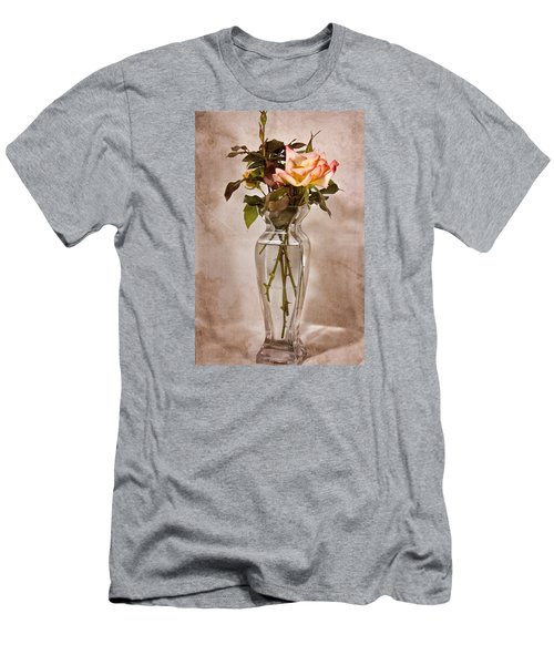 Men's T-Shirt (Slim Fit) featuring the photograph Winter Rose by Joan Bertucci