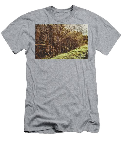 Winter Rural Tasmania Details Men's T-Shirt (Athletic Fit)