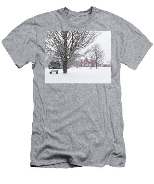 Winter Scene Men's T-Shirt (Athletic Fit)
