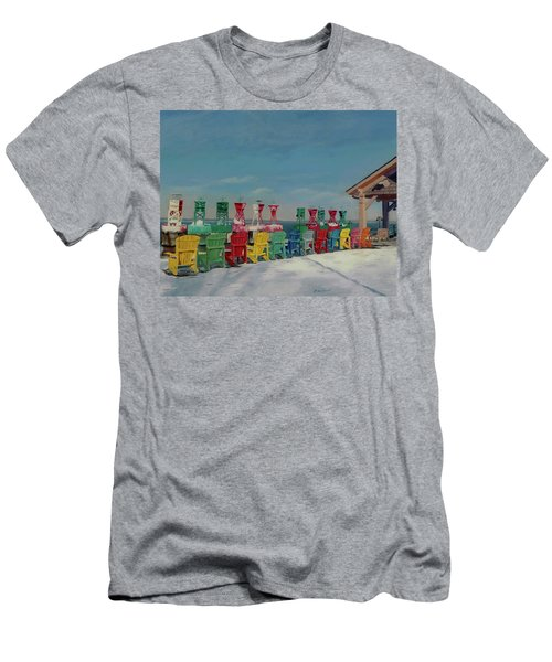 Men's T-Shirt (Athletic Fit) featuring the painting Winter Sentries by Lynne Reichhart