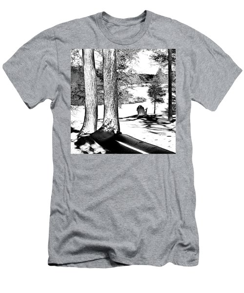 Men's T-Shirt (Slim Fit) featuring the photograph Winter Shadows by David Patterson