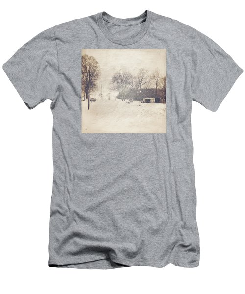 Winter Snow Storm At The Farm Men's T-Shirt (Athletic Fit)