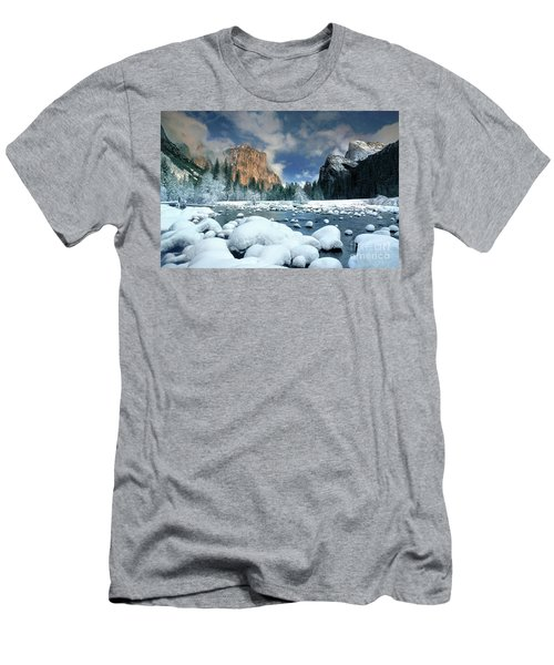 Men's T-Shirt (Slim Fit) featuring the photograph Winter Storm In Yosemite National Park by Dave Welling