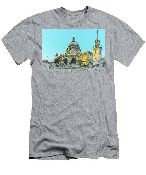 Winter Sun St Paul's Poster  Men's T-Shirt (Athletic Fit)