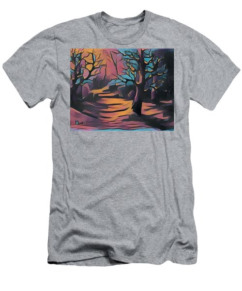 Winter Sunset Digital  Men's T-Shirt (Athletic Fit)