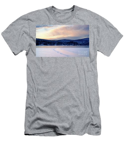 Winter Sunset On Wilson Lake In Wilton Me  -78091-78092 Men's T-Shirt (Athletic Fit)
