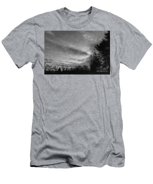 Winter Sunset On Woodland Lake Men's T-Shirt (Athletic Fit)