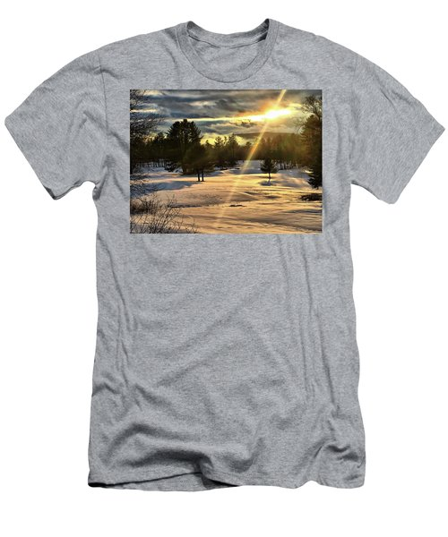 Winter Sunset Rays  Men's T-Shirt (Athletic Fit)
