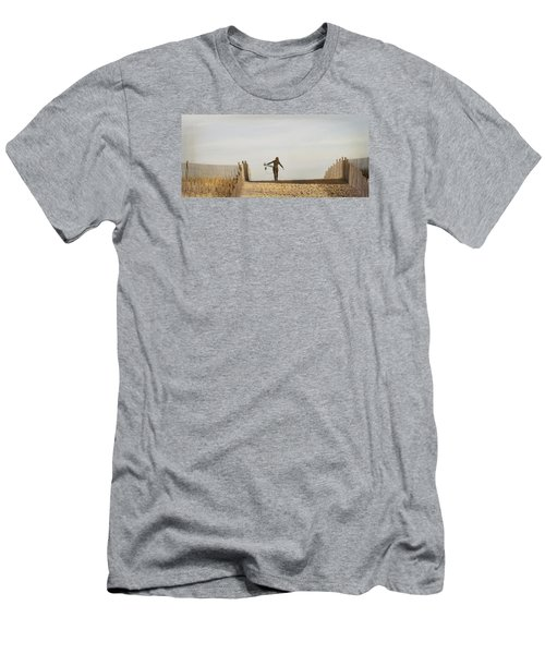 Winter Surfing Men's T-Shirt (Athletic Fit)