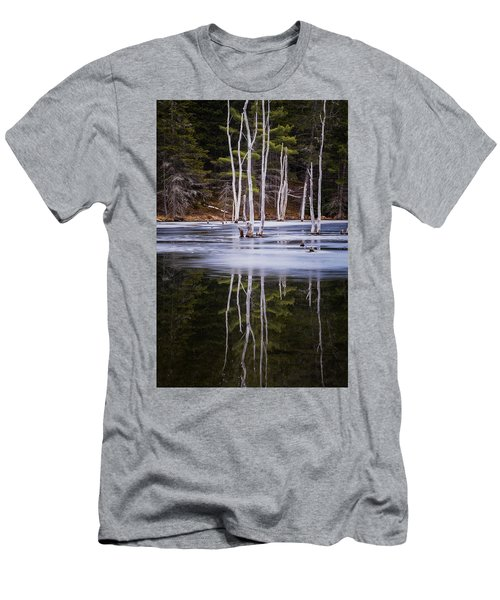 Winter Thaw Relections Men's T-Shirt (Slim Fit) by Tom Singleton