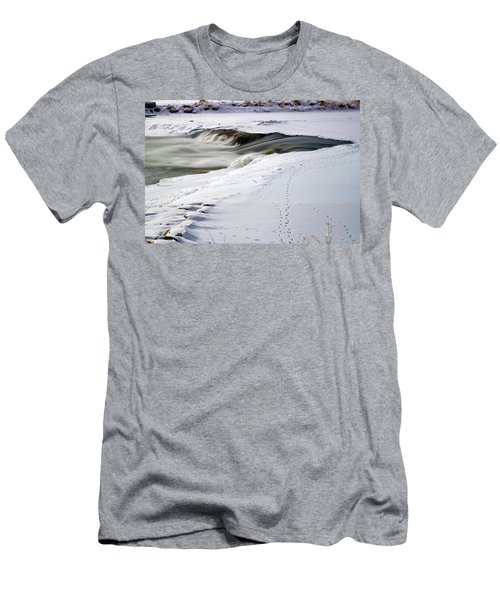 Winter Tracks Men's T-Shirt (Slim Fit) by Eric Nielsen