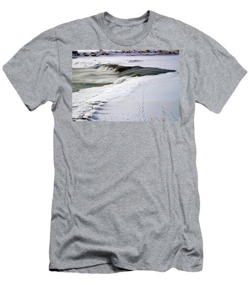 Winter Tracks Men's T-Shirt (Athletic Fit)