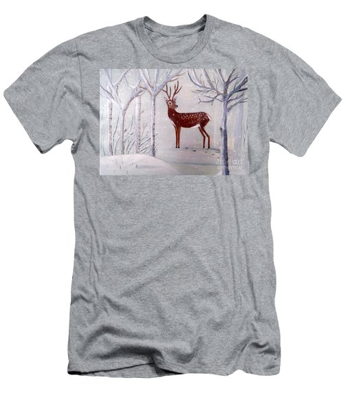 Winter Wonderland - Painting Men's T-Shirt (Athletic Fit)