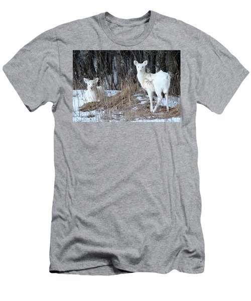 Wintery White Men's T-Shirt (Slim Fit) by Brook Burling