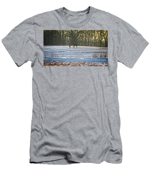Wisconsin Whitetail Deer Men's T-Shirt (Athletic Fit)