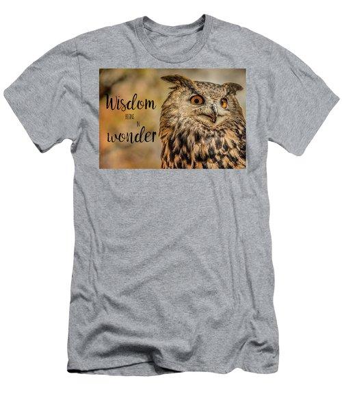 Wisdom Begins In Wonder Men's T-Shirt (Athletic Fit)