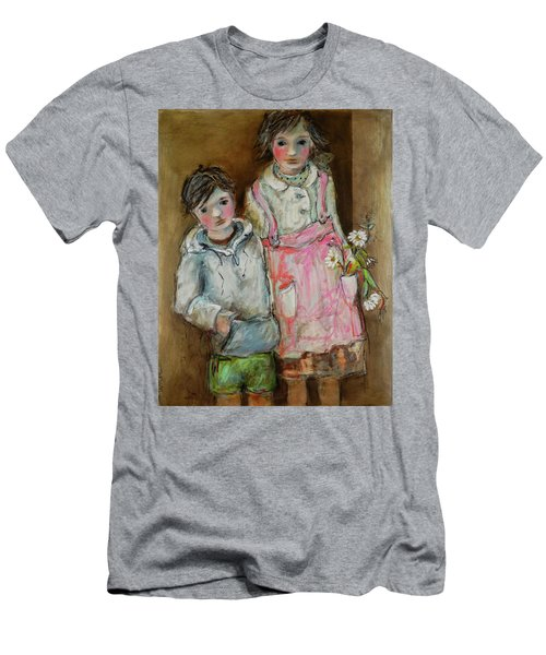 Wishes On A Daisy Men's T-Shirt (Slim Fit) by Sharon Furner