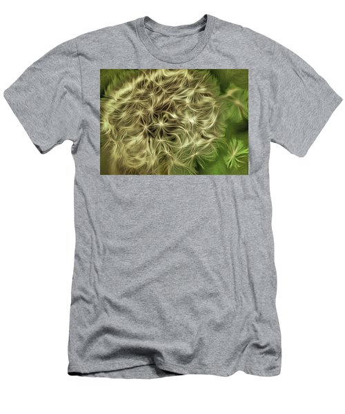 Men's T-Shirt (Slim Fit) featuring the mixed media Wishies by Trish Tritz