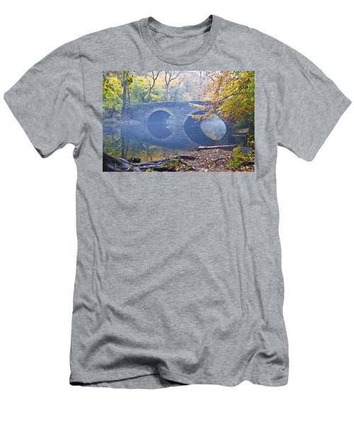 Men's T-Shirt (Athletic Fit) featuring the photograph Wissahickon Creek At Bells Mill Rd. by Bill Cannon