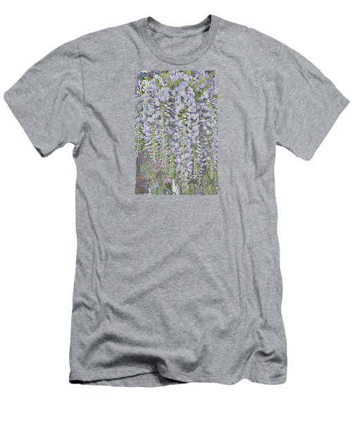 Men's T-Shirt (Athletic Fit) featuring the photograph Wisteria Before The Hail by Nareeta Martin