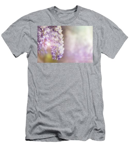Wisteria Flowers In Sunlight Men's T-Shirt (Athletic Fit)