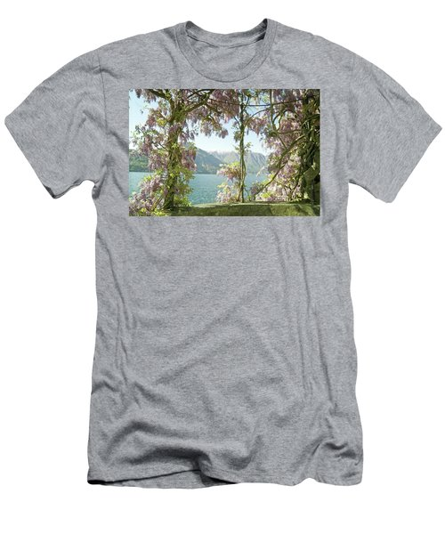 Wisteria Trellis Lago Di Como Men's T-Shirt (Slim Fit) by Brooke T Ryan