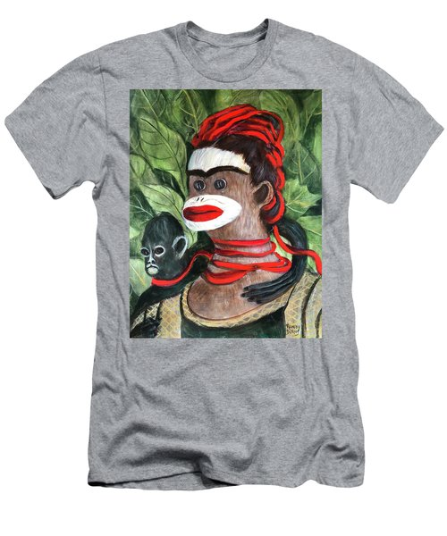 With Love To The Artist Frida Kahlo Men's T-Shirt (Athletic Fit)
