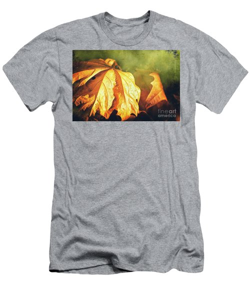Men's T-Shirt (Athletic Fit) featuring the photograph Withered Leaves by Silvia Ganora