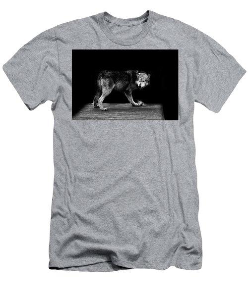 Wolf Portrait Men's T-Shirt (Athletic Fit)