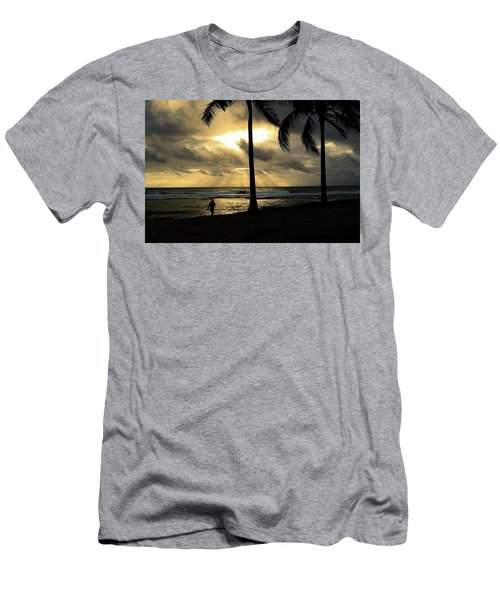 Woman In The Sunset  Men's T-Shirt (Athletic Fit)