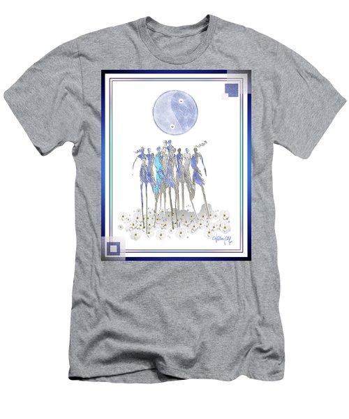 Women Chanting - Full Moon Flower Song Men's T-Shirt (Athletic Fit)