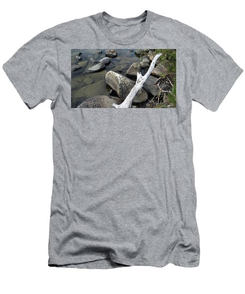 Wood And Rocks In Water Men's T-Shirt (Athletic Fit)