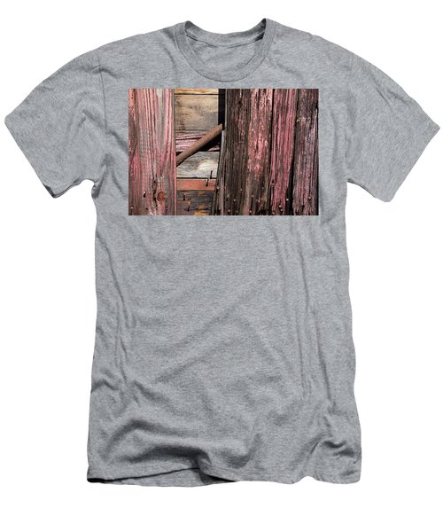 Men's T-Shirt (Slim Fit) featuring the photograph Wood And Rod by Karol Livote